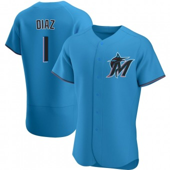 Authentic Miami Marlins Isan Diaz Alternate Jersey - Blue